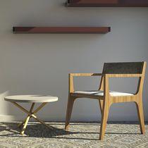 Contemporary coffee table / terrazzo / concrete / round