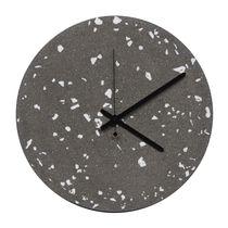 Contemporary clock / analog / wall-mounted / concrete