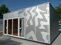 Sheet metal cladding / metal / perforated / panel