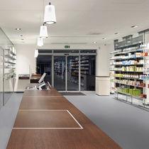 Vinyl flooring / for healthcare facilities / roll / smooth