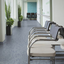 Linoleum flooring / commercial / roll / smooth