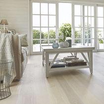 Engineered wood flooring / glued / oiled / smooth