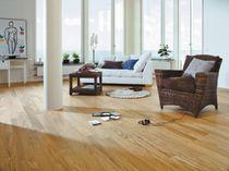 Engineered wood flooring / glued / solid wood / oiled