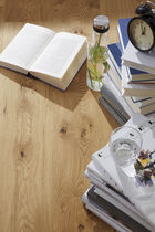 Engineered wood flooring / glued / oak / oiled