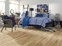 Engineered wood flooring / glued / oiled / commercial