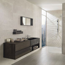 Bathroom tile / wall / ceramic / striped