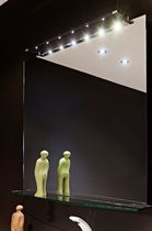Wall-mounted bathroom mirror / illuminated / contemporary / rectangular