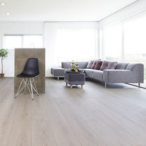 HDF laminate flooring / HPL / floating / residential
