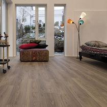 HDF laminate flooring / glued / residential / commercial