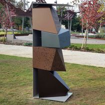 Metal sculpture / COR-TEN® steel / for public spaces / for public buildings