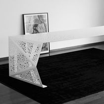 Original design conference table / steel / rectangular / custom
