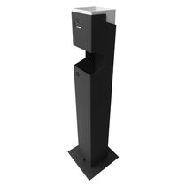 Pedestal ashtray / aluminum / for outdoor use / for public spaces