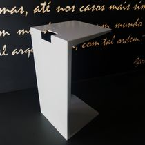 Contemporary side table / aluminum / thermo-lacquered aluminum / outdoor