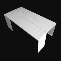 Original design side table / lacquered aluminum / rectangular / outdoor