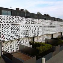 Aluminum cladding / lacquered / perforated / panel