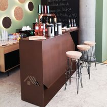 Bar counter / metal / upright
