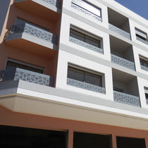 Aluminum railing / perforated sheet metal / outdoor / for balconies