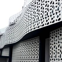 Metal cladding / matte / perforated / thermo-laquered