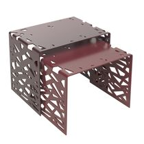 Original design side table / metal / aluminum / rectangular