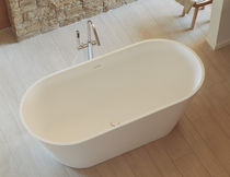 Free-standing bathtub / oval / Solid Surface / deep