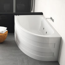Free-standing bathtub / corner / ceramic