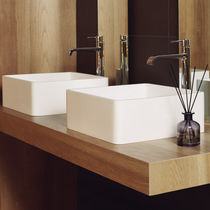 Countertop washbasin / square / Solid Surface / contemporary