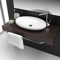 Countertop washbasin / oval / Solid Surface / contemporary