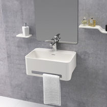 Wall-mounted washbasin / rectangular / Solid Surface / contemporary
