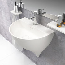 Wall-mounted washbasin / Solid Surface / contemporary