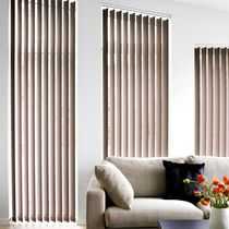 Vertical blinds / fabric / chain-operated / sun protection