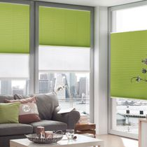 Pleated blinds / canvas / blackout / chain-operated