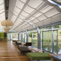Pleated blinds / fabric / conservatory / ceiling mounted
