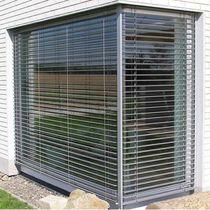 Aluminum solar shading / steel / for facades / window