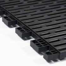 Plastic grating / for walkways / non-slip