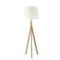 Floor-standing lamp / contemporary / wooden
