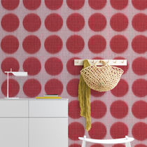 Contemporary wallpaper / nonwoven fabric / vinyl / geometric pattern