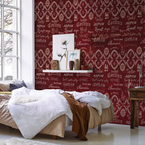 Contemporary wallpaper / nonwoven fabric / vinyl / patterned