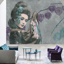 Contemporary wallpaper / nonwoven fabric / vinyl / chinoiserie