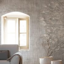 Contemporary wallpaper / nonwoven fabric / vinyl / floral pattern