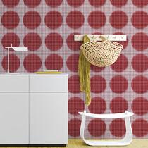 Vintage wallpaper / fiberglass / vinyl / geometric pattern