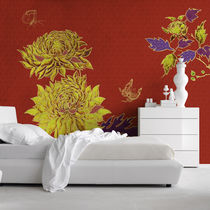 Traditional wallpaper / fiberglass / vinyl / floral