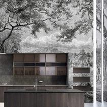 Contemporary wallpaper / nonwoven fabric / fiberglass / vinyl