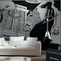 Contemporary wallpaper / nonwoven fabric / vinyl / scenic