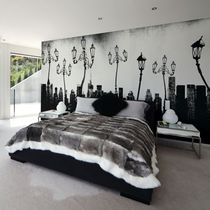 Contemporary wallpaper / nonwoven fabric / vinyl / panoramic