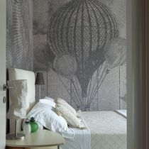 Contemporary wallpaper / nonwoven fabric / vinyl / sketch