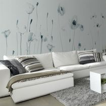 Contemporary wallpaper / nonwoven fabric / vinyl / floral