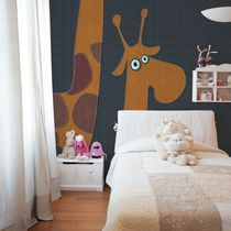 Contemporary wallpaper / nonwoven fabric / vinyl / animal motif