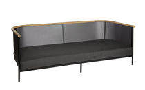 Contemporary sofa / outdoor / Sunbrella® / teak