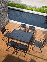 Contemporary table / rectangular / garden