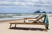 Contemporary lounge chair / teak / indoor / garden